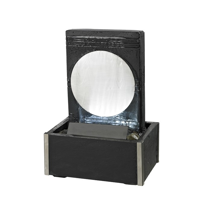 tischbrunnen ronda mit led keramik
